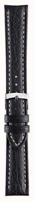 Morellato Alleen band - kuga echt leder zwart 18mm horlogebandje A01U3689A38019CR18