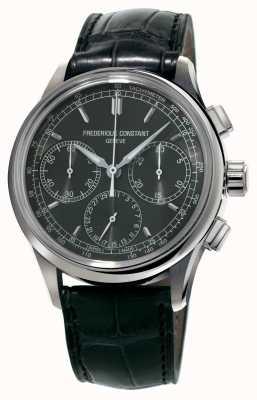 Frederique Constant Flyback chronograaf bereiding zwarte alligator band FC-760DG4H6