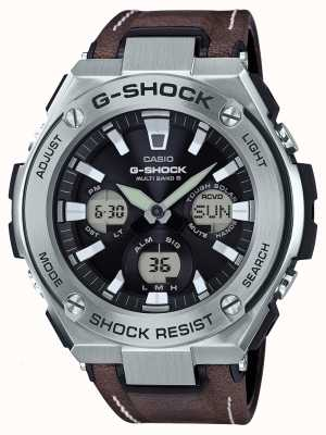 Casio G-shock aviator stoere zonnebril leren band GST-W130L-1AER