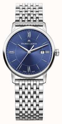 Maurice Lacroix Womens Eliros roestvrij stalen armband blauwe wijzerplaat EL1094-SS002-410-1