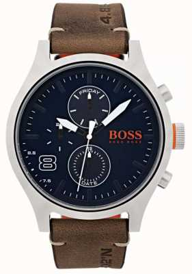 Hugo Boss Orange Mens amsterdam bruin leer 1550021