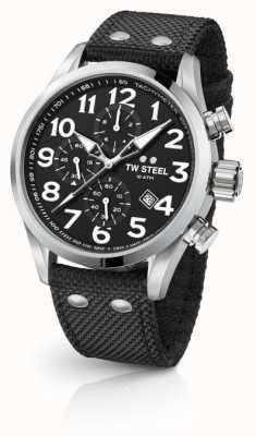 TW Steel Mens volante zwarte 48mm chronograaf VS4