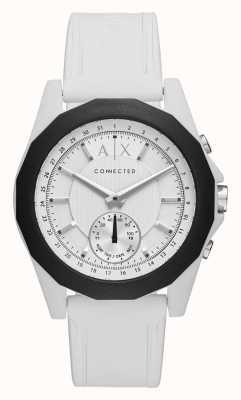 Armani Exchange Verbonden slimme horloge witte siliconenband AXT1000