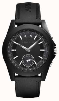 Armani Exchange Verbonden slimme horloge zwarte siliconenband AXT1001