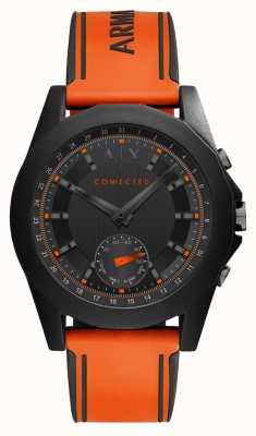 Armani Exchange Verbonden slim horloge oranje siliconenbandje AXT1003