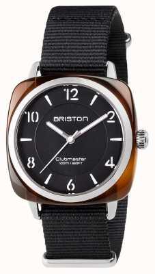 Briston Unisex clubmeester chique zwarte acetaatstaal met nato band 17536.SA.T.1.NB