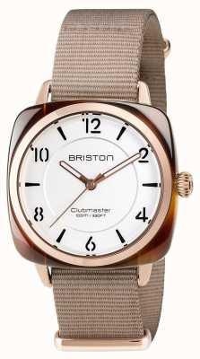 Briston Unisex clubmaster chic beige acetaat pvd rose gold 17536.PRA.T.2.NT