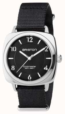 Briston Unisex clubmaster chic zwart staal met nato band 17536.S.L.1.NB