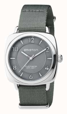 Briston Unisex clubmeester chic grijs staal met nato band 17536.S.L.17.NG
