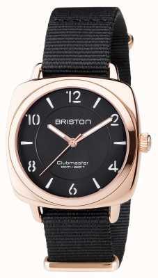 Briston Unisex clubmaster chic zwart pvd rose goud 17536.SPRG.L.1.NB
