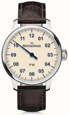 MeisterSinger Heren Classic niet. 2 handgewonden ivoor AM6603N