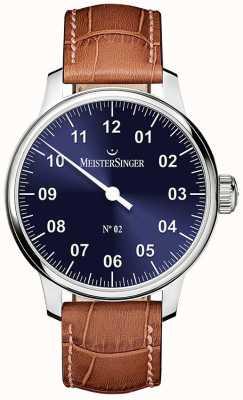 MeisterSinger Heren Classic niet. 2 handgewonden zonnestraal blauw AM6608N