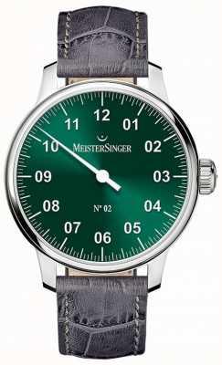 MeisterSinger Heren Classic niet. 2 handgewonden zonnestraal groene AM6609N