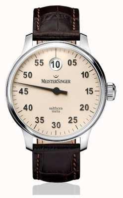 MeisterSinger Mens classic plus salthora meta automatische ivoor SAM903
