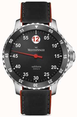 MeisterSinger Heren Classic plus salthora meta x automatische zwart rood SAMX902