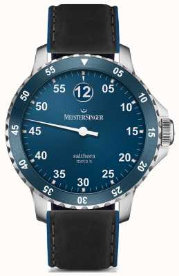 MeisterSinger Mens classic plus salthora meta x automatisch blauw SAMX908