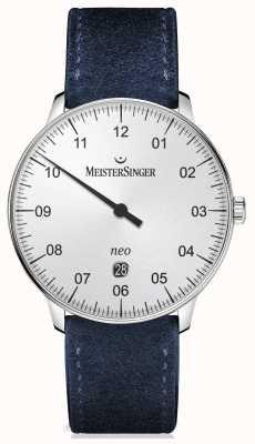 MeisterSinger Mens vorm en stijl automatische zilver NE401