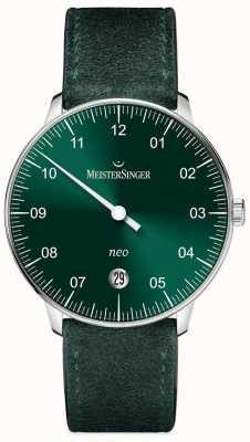 MeisterSinger Mens vorm en stijl neo automatische zonnestraal groen NE909N