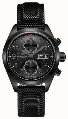 Hamilton Khaki veld auto chrono zwart H71626735