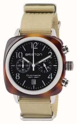Briston Clubmaster classic acetaat - chronograaf schildpad zwart 13140.SA.T.1.NK