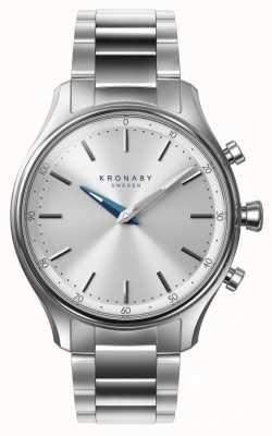 Kronaby 38 mm sekel bluetooth roestvrij stalen armband a1000-0556 S0556/1