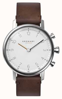 Kronaby 38 mm nord bluetooth bruine lederen band a1000-0711 S0711/1