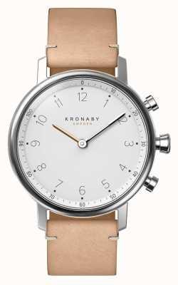 Kronaby 38 mm nord bluetooth beige lederen band a1000-0712 S0712/1
