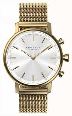 Kronaby 38mm karaat bluetooth gouden gaasband a1000-0716 S0716/1