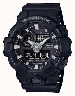 Casio Heren g-shock zwarte alarm chronograaf GA-700-1BER