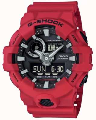 Casio Mens g-shock rode alarm chronograaf GA-700-4AER