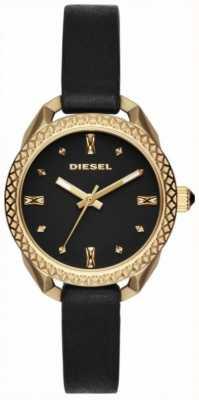 Diesel Dames shawty zwart en goud horloge DZ5547