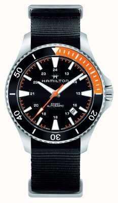 Hamilton Mens khaki navy scuba automatisch zwart H82305931