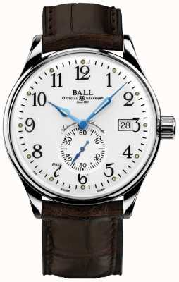 Ball Watch Company Mens trainmaster standaard time chronometer NM3888D-LL1CJ-WH