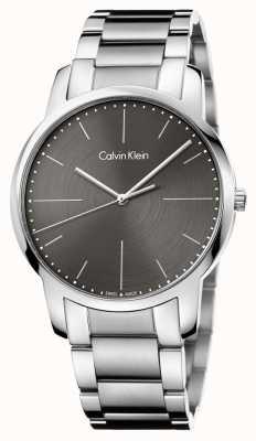 Calvin Klein Mens stad roestvrij stalen armband grijze wijzerplaat K2G2G1Z3