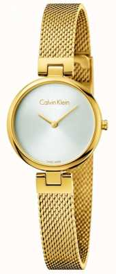 Calvin Klein Womans authentieke pvd vergulde staal mesh armband K8G23526