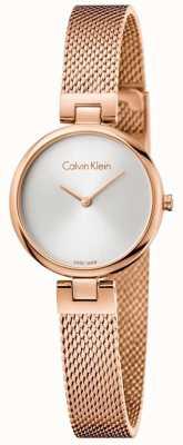 Calvin Klein Womans authentieke pvd geplateerde roos goud mesh armband K8G23626