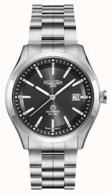 Roamer Automatische rd100 | roestvrijstalen armband | zwarte wijzerplaat 951660-41-55-90