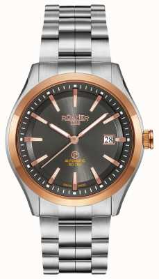 Roamer Automatische rd100 | roestvrijstalen armband | zwarte wijzerplaat 951660 49 05 90