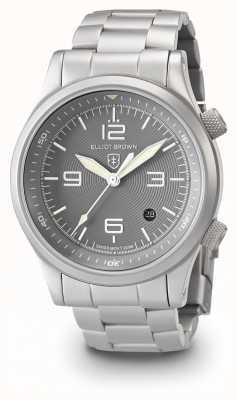 Elliot Brown Mens canford zilveren en grijze roestvrijstalen armband 202-018-B06