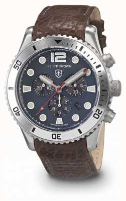 Elliot Brown Mens bloxworth zwart en grijs geoliede leren band 929-015-L16