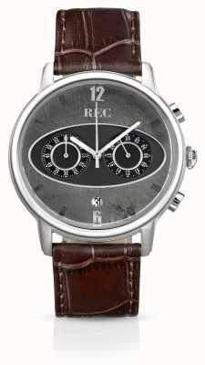REC Markeer 1 m1 chronograaf bruine leren riem M1