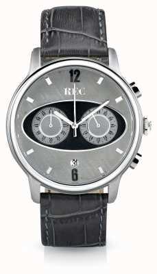 REC Markeer 1 m2 chronograaf grijze leren riem M2