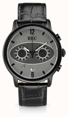 REC Mark 1 m3 chronograaf zwart lederen band M3