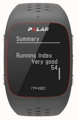 Polar M430 grijs rubberen sporthorloge | 90064404
