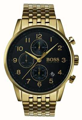 Boss Mens navigator klassiek zwart wijzerplaathorloge 1513531