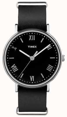 Timex Mens southview 41mm zwarte wijzerplaat zwarte band TW2R28600