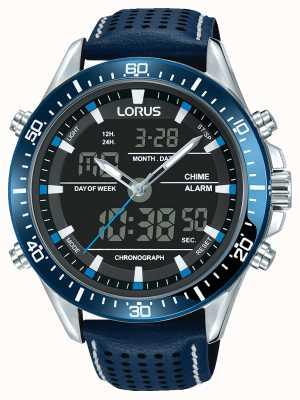 Lorus Heren sport analoge / digitale chronograaf blauw RW643AX9