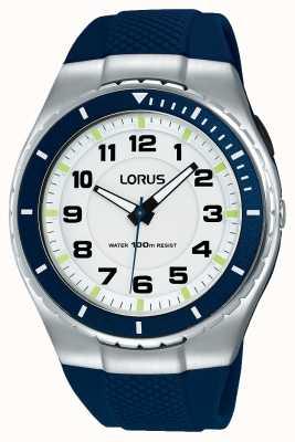 Lorus Heren sport functionele siliconenband zwart R2329LX9