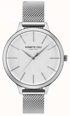 Kenneth Cole Womans zilveren wijzerplaat zilveren roestvrijstalen mesh armband KC15056009