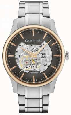 Kenneth Cole Automatische skelet wijzerplaat roestvrijstalen armband voor heren KC15110001